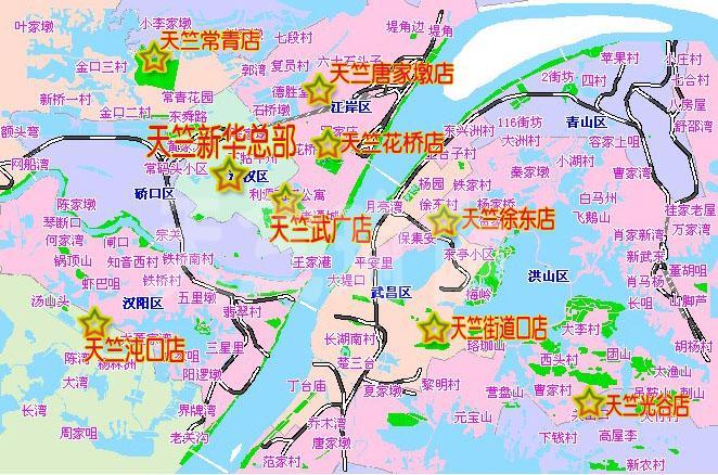 天竺瑜伽武汉地区分布大概地图图片