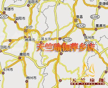 江西萍乡地理位置