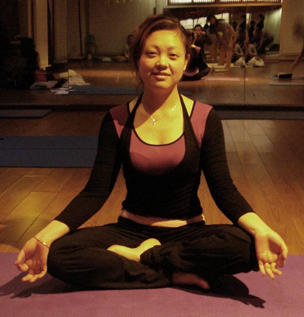 瑜伽优秀学员刘璐