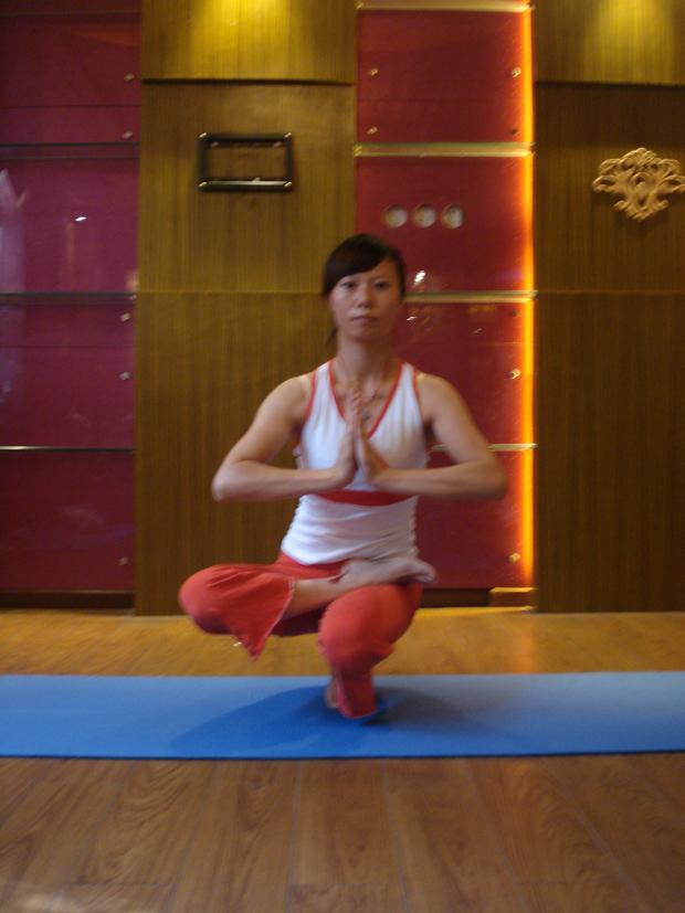 瑜伽优秀学员张莉