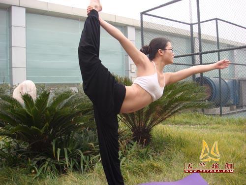 瑜伽优秀学员刘茜霞